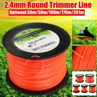 2.4mm 30-261m Heavy Duty Nylon Round Trimmer Strimmer Line Wine Brushcutter Rope