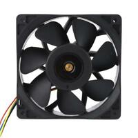 6000RPM Cooling Fan Replacement 4-pin Connector For Antminer Bitmain S7 S9 Black