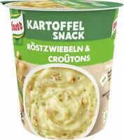Knorr Snack Bar Kartoffel Snack Röstzwiebeln & Croûtons 1 Portion (8 X 53