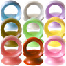 Ear gauges ear plugs Low Profile Silicone Ear ultra thin flesh tunnels 1 pair