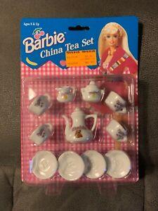 Barbie China Tea Set 1994 (1-7/11) NRFB #8617-9 Chilton Toys. Made in China.