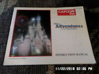 Adventures In The Magic Kingdom (NES Nintendo) Instruction Manual Only. NO GAME