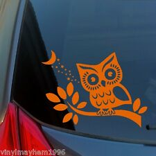 Owl in Tree vinyl wall sticker art decal home living room bathroom wise car SUV