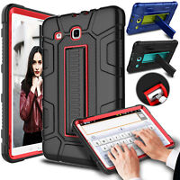 Shockproof Rubber Kickstand Protective Case Cover for Samsung Galaxy Tab E 9.6''