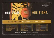 Wake Forest Demon Deacons--2007-08 Basketball Magnet Schedule