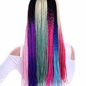 "24"" Senegalese Twist Braiding Small Braids Crochet Hair Extension Synthetic Hair"