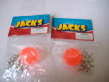 2 Sets of metal jacks with red rubber ball 8 metal jacks and 1 ball classic game