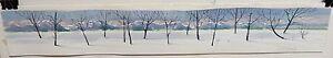 TOM TINKLER ORIGINAL WATERCOLOR SNOW TREE LANDSCAPE PAINTING