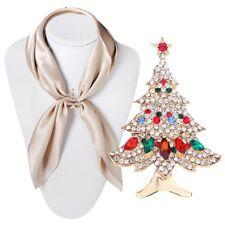 Vintage Christmas Tree Brooch Rhinestone Pin Charm Fashion Women Jewelry xxY