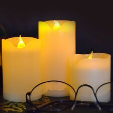 Battery Operated Flameless Moon Candles Flickering Pillar LED Candle Light