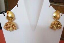 Indian Pakistani Gold Plated Bridal Jhumki Jhumka Earrings Paisley Pattern Women