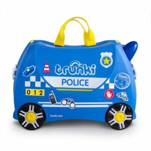 * NEW * Trunki Ride On Suitcase Percy Police Car Kid's Luggage