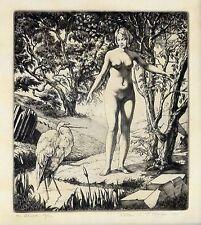 WILLIAM EC MORGAN, THE BROOK 1930 ENGRAVING, 1/50 COPIES