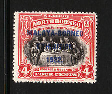 NORTH BORNEO 1922 4c SCARLET P.14½-15 SG 257b| MINT.
