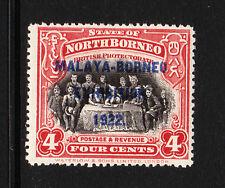 NORTH BORNEO 1922 4c SCARLET P.14½-15 SG 257b| MINT.