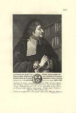 MAGLIABECHI ANTONIO ERUDITO BIBLIOFILO FIRENZE STAMPA ORIGINALE 1700