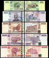 TANZANIA Set 5 PCS 500-1000-2000-5000-10000 SHILLINGS 2003-2006 P35 TO P39 UNC