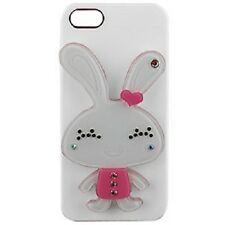 For Apple iPhone 5 5S SE HARD Case Snap On Phone Cover White Rabbit with MIRROR