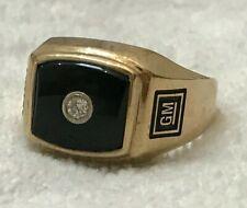 General Motors GM Gold Ring 10K Black Onyx? Diamond Mens Ring