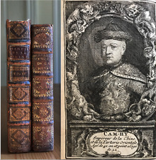 V. RARE 1697 1701 2 VOL CHINA HISTORY TRAVEL SCIENCE ENGRAVINGS FRENCH LE COMTE