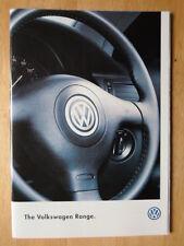 VOLKSWAGEN Range orig 1997 UK Mkt sales brochure - Golf Cabriolet Passat Polo VW