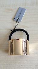 Cola De Caballo Pelo Puño curvado del anillo de metal oro elástico Wrap titular Trusted Reino Unido Vendedor