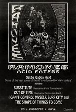 "27/11/93PGN10 ALBUM ADVERT 10X7"" THE RAMONES : ACID EATERS"