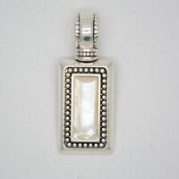 premier designs jewelry unique polished silver plated slide rectangle pendant