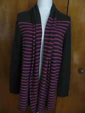Aqua Women's Char Magenta Cashmere Long Cardigan Size Large NWT