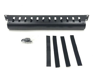 Raising Electronics 1U Horizontal Rack Mount Metal Cable Management with Cover