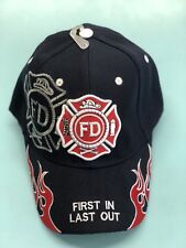 Fire Department Hat First In Last One Out (navy)