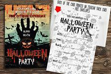 8 Halloween Party Invitations +Envelopes/ Vintage Halloween spooky party invites