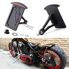 Vertical Side Mount Motorcycle License Plate Bracket Holder Brake LED Light MT