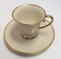 California Flintridge Gold Rimmed China Teacup & Saucer PreownedKitchen.com