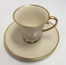 California Flintridge Gold Rimmed China Teacup & Saucer PreownedKitchen.com