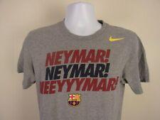 Nike Men's T-Shirt SMALL Neymar FC Barcelona FCB Gray Barça Spain Futbol Soccer