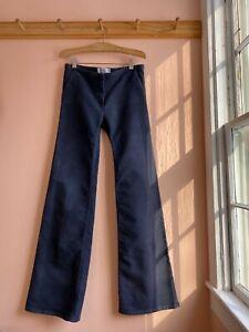 Balenciaga Paris moleskin flare trouser pants cotton jeans 40 la garconne 4 6