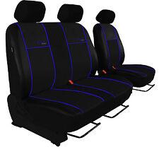 Für VW T5 Transporter / paßgenaue Sitzbezüge ECO-LINE Hier mit blauer Lamelle