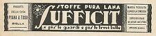 W6231 Stoffe pura lana SUFFICIT_Piana & Toso_Biella - Pubblicità 1932 - Advert.
