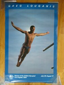 1984 Games of the XXIII Olympiad GREG LOUGANIS Diving SUMMER OLYMPICS Poster