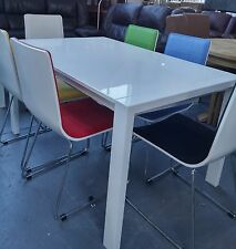Alfrank Colwood White Gloss Extending Dining Table and 6 Chairs BNIB