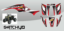 STICKERS KIT GRAPHIC ATV QUAD DROP RED POLARIS SCRAMBLER from 1995 al 2009