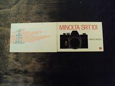 Lot of 2 1973 Minolta Sr-T 101 Slr Camera Owner's Manual Sc Books