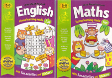 ENGLISH & MATHS AGE 5-6 KEYS STAGE 1 ACTIVITY LEARNING HOMEWORK SCHOOL WORKBOOKS