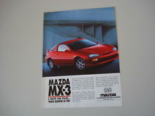 advertising Pubblicità 1992 MAZDA MX-3 MX 3 MX3