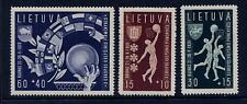 Lituania 1939 Juego De Baloncesto 3 Perfecto Sin Bisagra