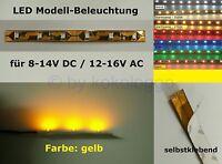 S337 LED Beleuchtung GELB 10 cm selbstklebend 8-16V Kirmes Disco Häuser Zirkus