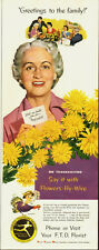 1954 Vintage ad for Florists' Telegraph Delivery/Flowers/ yellow (061213)