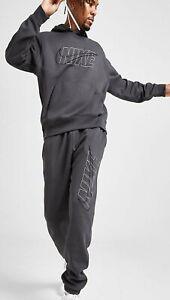 NIKE mens TRACKSUIT S M L XL grey hoodie joggers pants sweatshirt trousers SLIM