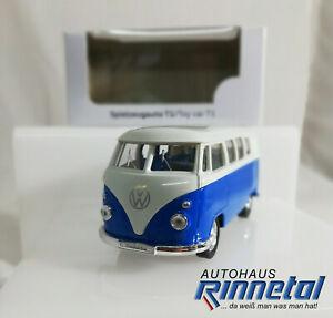 VW Spielzeugauto T1, Rückziehfunktion, blau/weiß, 211087511A